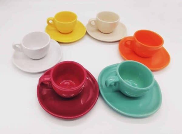 6 tazze caffè colori assortiti