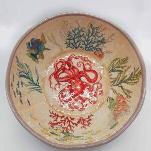 Ciotola melanina - decorazione marino diametro 35 cm prezzo € 34,90
