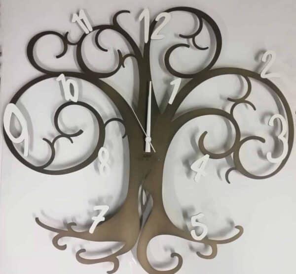 """Orologio """"Albero della vita"""" in ferro battuto Prodotto italiano - dimensioni 60 cm"""