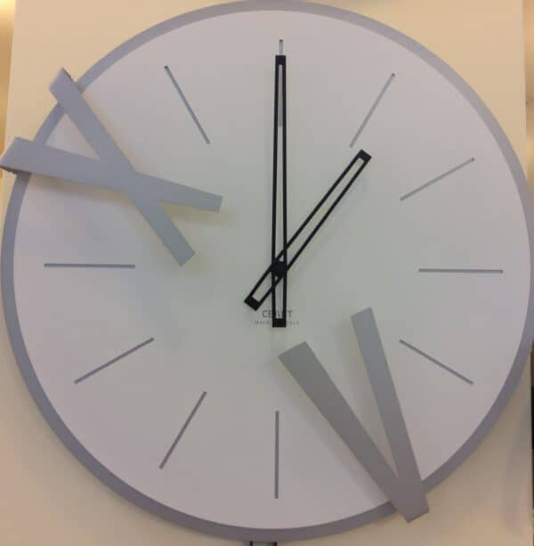 Orologio 5 & 10 design diametro cm.45, ferro battuto taglio laser