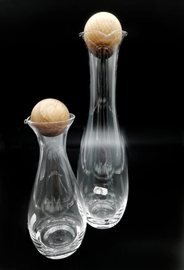Caraffa-Bottiglia con tappo vetro e tappo quercia, cl.30 e cl.100